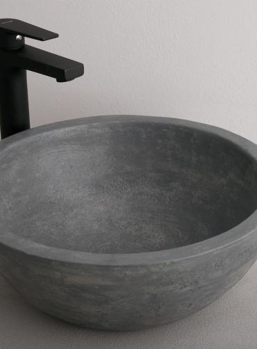 Νιπτήρας ανθρακί Tema STONE Ø40