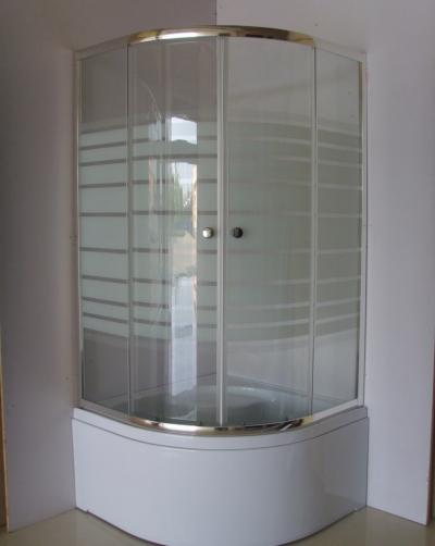 Γωνιακό ακρυλικό μπάνιο Kr Myconos 90x90+ καμπίνα FLORA 200